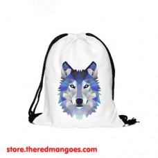 Drawstring Bag Polygon Wolf