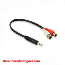 Cable Audio 3.5 Female To RCA 2 Male
