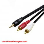 Cable Audio 3.5 To 2 RCA HQ 1.5m
