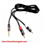 NYK Cable Audio 3.5 To 2 RCA 1.5m