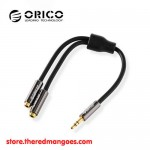 Orico AT2 3.5 Male Aux Cable To 2 Female