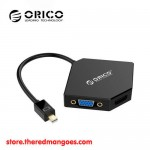 Orico DMP-HDV3 Mini Display Port To HDMI + DVI + VGA Adapter Black