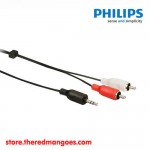 Philips SWA2520W Stereo Y Cable 3.5mm Male to 2 RCA Male 3m