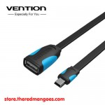 Vention A09 Micro USB 2.0 OTG Cable Flat Black