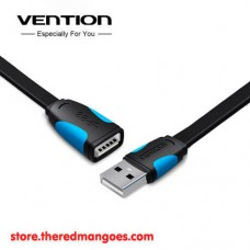 Vention A10 Kabel Extension Flat USB 2.0 Male to Female 1.5m Black