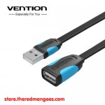 Vention A10 Black Extension Flat Cable USB 2.0 Male to Female 1.5M Black