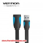 Vention A13 Kabel Extension Flat USB 3.0 Male to Female 3m Black
