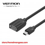 Vention A57 OTG Cable Mini USB 2.0 Adapter Black