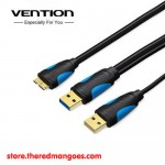 Vention A62 Kabel Data Harddisk Eksternal Micro USB 3.0 with USB Power 1m
