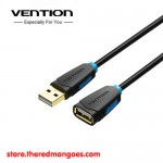 Vention CBCBBG / CBC Kabel Extension USB 2.0 Gold Plated Male to Female 1.5m