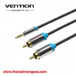 Vention P550 Aux 3.5mm Male to 2 RCA Male 2M Black