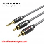 Vention P560 Aux 3.5mm Male to 2 RCA Male 2M Silver