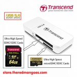 Transcend USB 3.0 Card Reader RDF5 White
