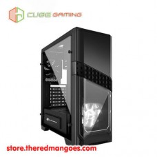 Cube Gaming Bedver - Tempered Glass Window