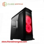 Cube Gaming Finstera Black Red Led