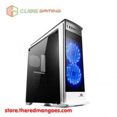 Cube Gaming Finstera White Blue Led