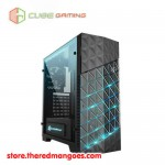 Cube Gaming Girflet Black - Tempered Glass Window