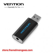 Vention S15 Universal External USB Sound Card Black