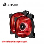 Corsair AF120 Quiet Edition High Airflow 120mm Fan Twin Pack Red LED