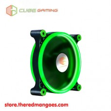 Cube Gaming Double Ring Fan V2 12cm Green Led