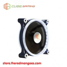 Cube Gaming Double Ring Fan V2 12cm White Led