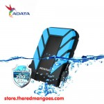 "Adata HD710 1TB USB 3.1 Waterproof Dustproof Shock Resistant HDD External 2.5"" Blue"