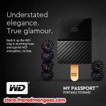 "WD My Passport 4TB USB 3.0 HDD External 2.5"" Black"