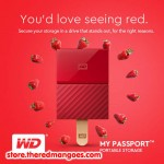 "WD My Passport 4TB USB 3.0 HDD External 2.5"" Red"