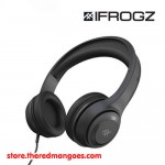 iFrogz Aurora Wired Headphones With Mic Black