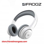 iFrogz Aurora Wired Headphones With Mic White