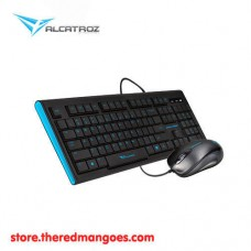 Alcatroz Xplorer 2000SL Keyboard And Mouse Combo Black Blue