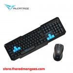 Alcatroz Xplorer 5500M Multimedia Keyboard and Mouse Combo Blue