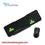 Alcatroz Xplorer 5500M Multimedia Keyboard And Mouse Combo Green