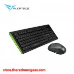 Alcatroz Xplorer Air 1000 Keyboard Mouse Wireless Green