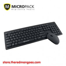 Micropack KM-232W Slim Keyboard Mouse Wireless Combo Black