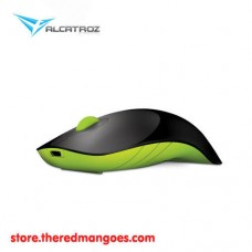 Alcatroz Air Shark Rechargeable Wireless Mouse Black Green