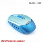 E-Blue Vertical On Air 2.4GHz Wireless Mouse Blue