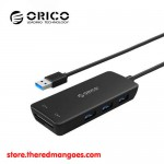 Orico H3TS-U3 3 Port USB 3.0 Hub with Card Reader Black