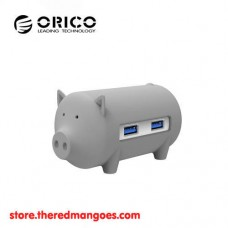 Orico H4018-U3 Litte Pig USB Hub With Card Reader Grey
