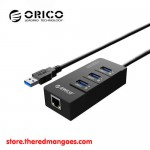 Orico HR01-U3 3 Port USB 3.0 Hub With Lan Gigabit Ethernet Network Adapter
