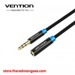 Vention B06-M / B06M Kabel Extension Audio Aux 3.5mm Male to Female 1.5m Black