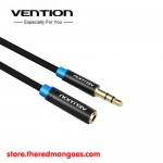 Vention B06-M / B06M Kabel Extension Audio Aux 3.5mm Male to Female 2m Black