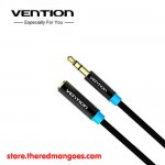 Vention B06-M / B06M Kabel Extension Audio Aux 3.5mm Male to Female 5m Black