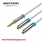 Vention B09 Cable Aux Audio & Mic Splitter 3.5mm Male to 2 Female
