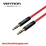 Vention BAJRG / BAJ Kabel Audio Aux 3.5mm Male to Male Cotton Braided 1.5m Red