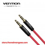 Vention BAJRH / BAJ Kabel Audio Aux 3.5mm Male to Male Cotton Braided 2m Red