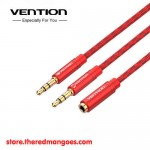 Vention BBQRY / BBQ Kabel Aux Splitter 3.5mm Female to 2 Male Audio & Mic
