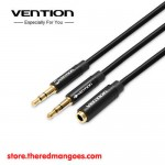 Vention BBU / BBUBY Aux Audio And Mic Splitter 1 Female To 2 Male