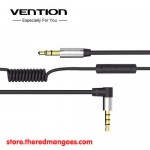 Vention BEB / BEBBF Aux 3.5mm Audio Cable With Volume Control Stereo Flexible Spring 1m