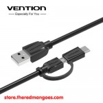 Vention CABBH / CAB Cable USB 2.0 To Micro USB With USB Type-C Adapter 2m
